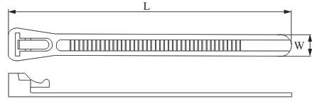 Стяжки кабельные КСР (многоразового использования)- рис 1