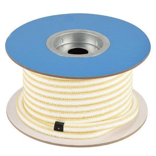 Сальниковый уплотнитель из PTFE с уголками из арамидных волокон