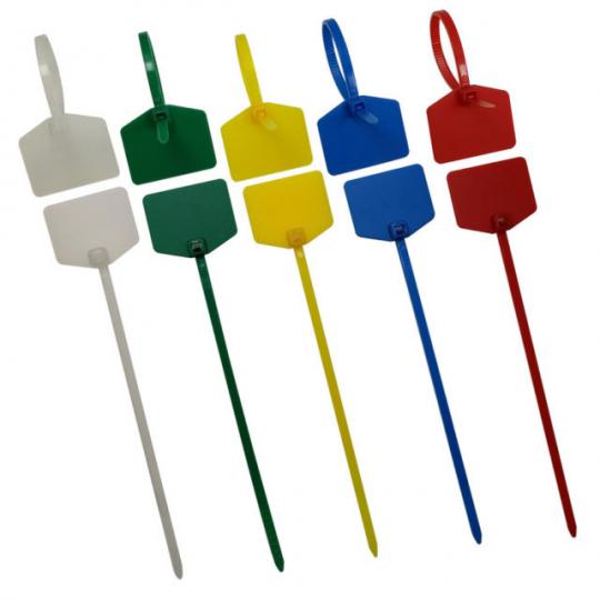Пластиковые стяжки (хомуты) кабельные КСМ с площадкой для маркировки