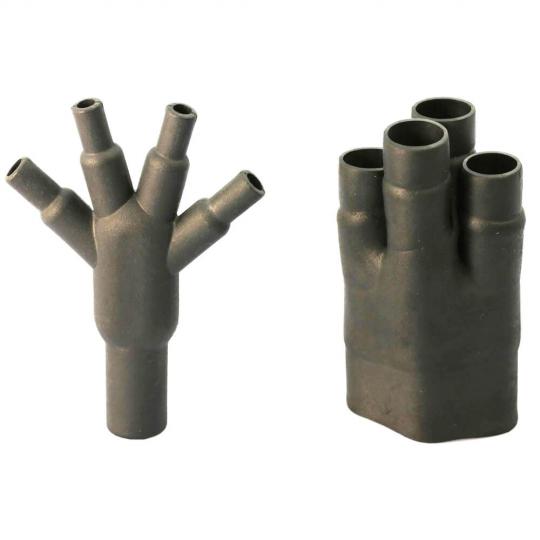 Термоусаживаемая четырехпалая разветвленная перчатка