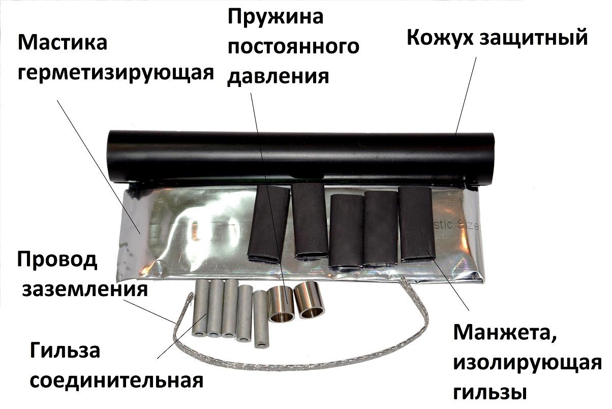 Конструкция соединительной термоусаживаемой мини-муфты