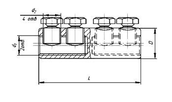 Соединители (гильзы) с круглой полостью типа ГД схема