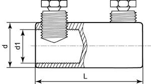 Соединители (гильзы) со срывными болтами СБ схема