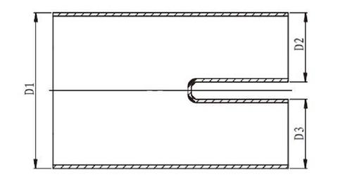 Термоусаживаемая руковица (двупалая разветвленная перчатка) до усадки