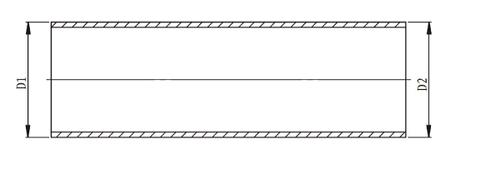 Термоусаживаемый кабельный прямой кожух до усадки